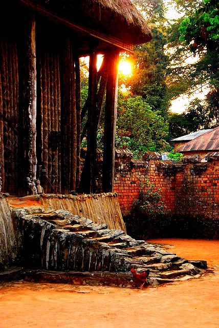Detail de la grande case de la chefferie de BAFUT dans la region du nord ouest Cameroun, classee patrimoine mondial de  l unesco